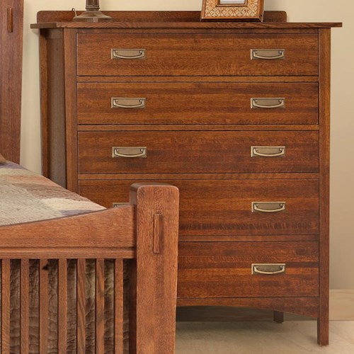 Witmer Furniture Heartland Bedroom Chest with 5 Drawers