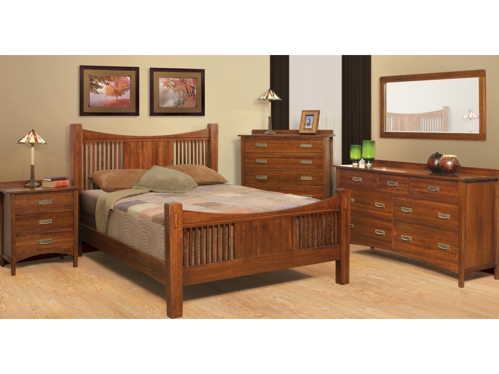 Shown with Night Stand, Bed, Dresser and Mirror