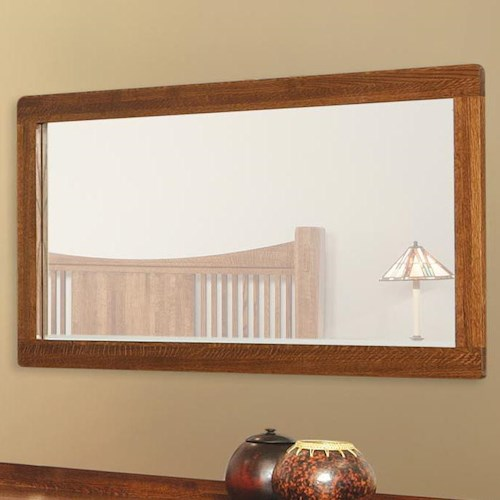 Witmer Furniture Heartland Landscape Mirror with Wood Frame