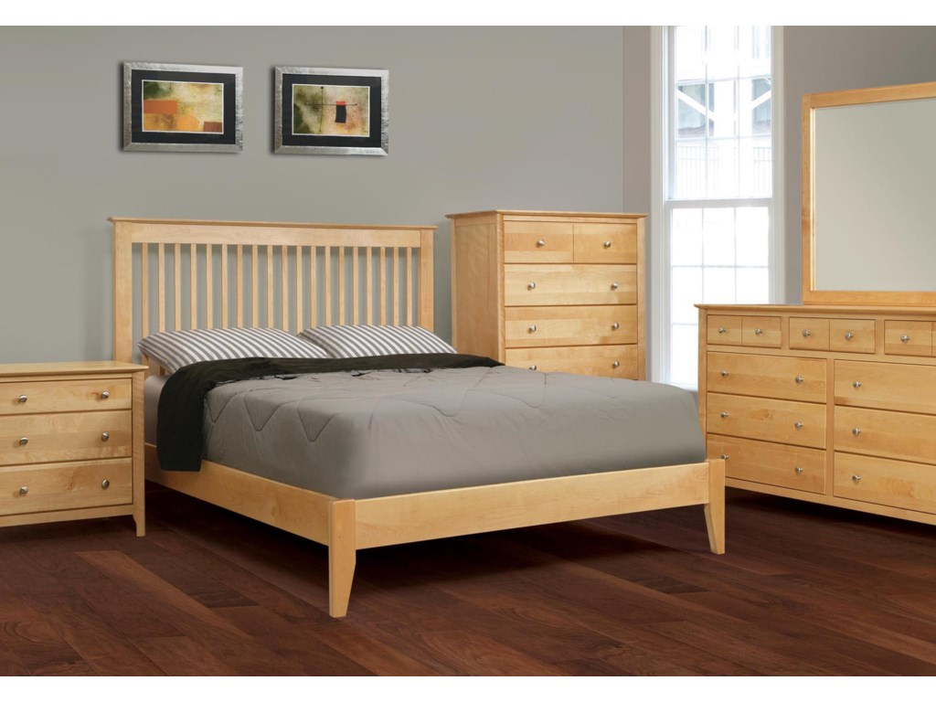 Shown with Night Stand, Bed and Dresser with Mirror
