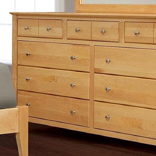 Witmer Furniture Stratford Bedroom Dresser with 9 Drawers