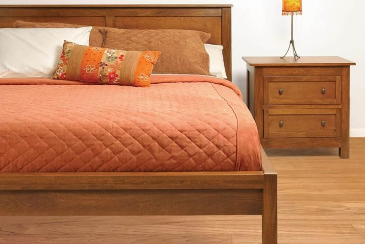 Shown with Two-Drawer Night Stand. Bed Shown May Not Represent Size or Slats Indicated.