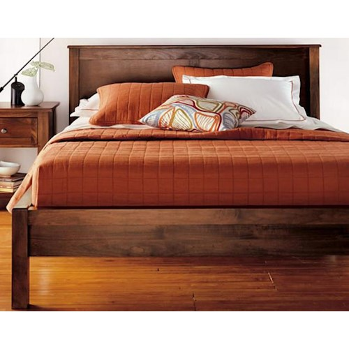 Witmer Furniture Taylor J King Size 2 Panel Platform Bed with 12-Wood Slats