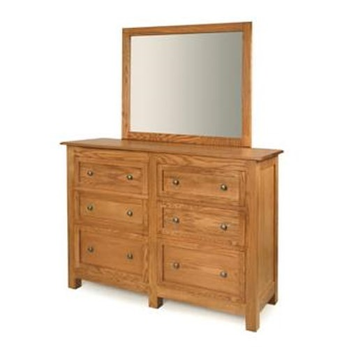 Witmer Furniture Taylor J 6-Drawer Dresser and Mirror Combo