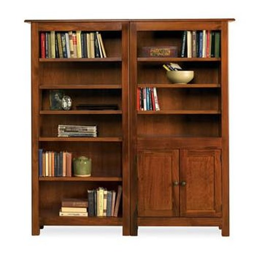 Witmer Furniture Taylor J 9-Shelf Bookcase Combo with Doors