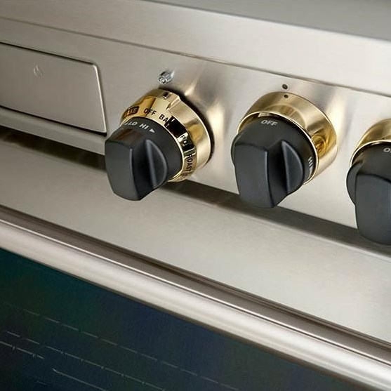 Black Knobs with Brass Bezels Option