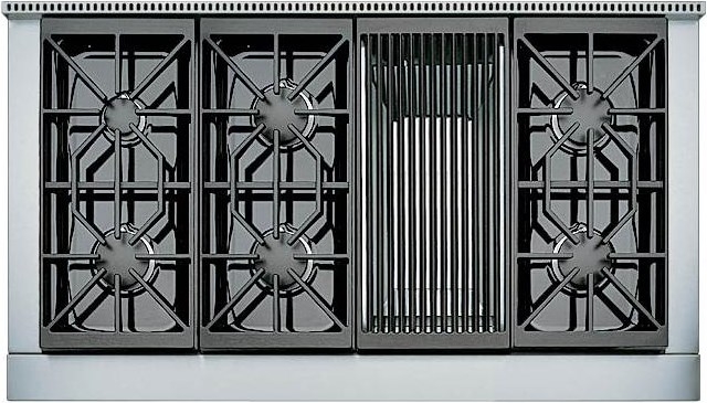 6 Burners with Charbroiler