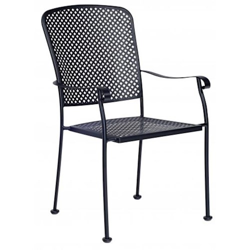 Woodard Fullerton Outdoor Dining Arm Chair