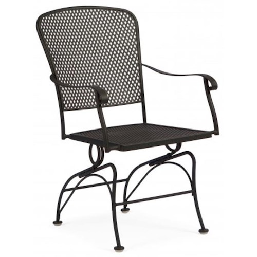 Woodard Fullerton Coil Spring Outdoor Dining Arm Chair