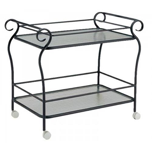Woodard Woodard - Tea Carts Tea Cart w/ Obscure Glass Shelves