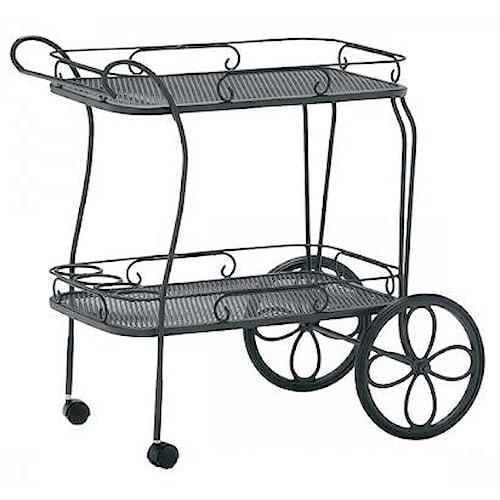 Woodard Woodard - Tea Carts Tea Cart w/ Removable Serving Tray