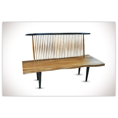Morris Home Furnishings Nicholas Naka Chair Bench *Floor Models Only Left