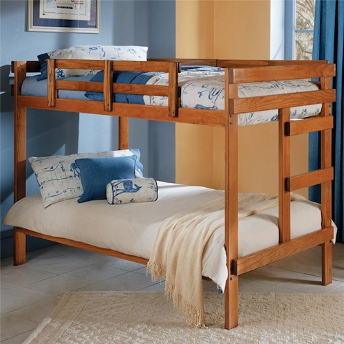 Woodcrest Heartland Br Traditional Style Wooden Bunk Bed