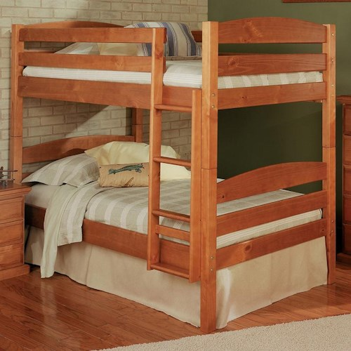 Woodcrest Pine Ridge Square Post Twin Over Twin Size Bunk