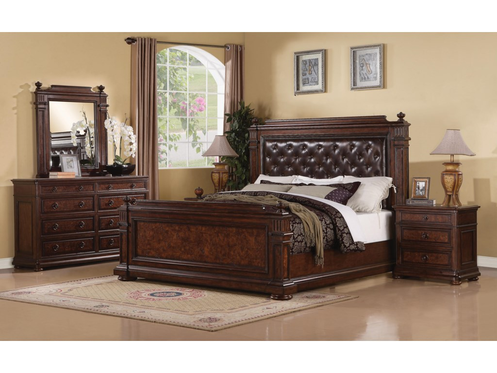 Mansion Bedroom Furniture Flexsteel Wynwood Collection Aberdeen Queen Mansion Bed With