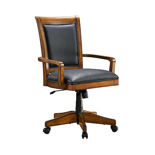 Flexsteel Wynwood Collection Office Chairs Soho Upholstered Swivel-Tilt Office Desk Chair