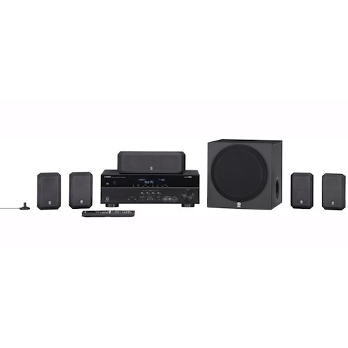 Yamaha Home Theater in a Box Systems 5.1 Channel Home Theater in a Box System with HTR-3065 Receiver and Compact Speakers