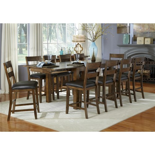 Aamerica mariposa 7 piece counter height dining room for 7 piece dining room set counter height