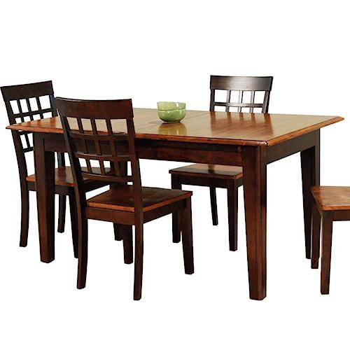 Aamerica bristol point rectangular accordion leg table Value city furniture kitchen sets