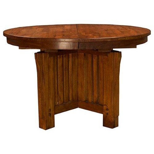 AAmerica Mission Hill 48 Round Extendable Table With Pedestal Base Wa