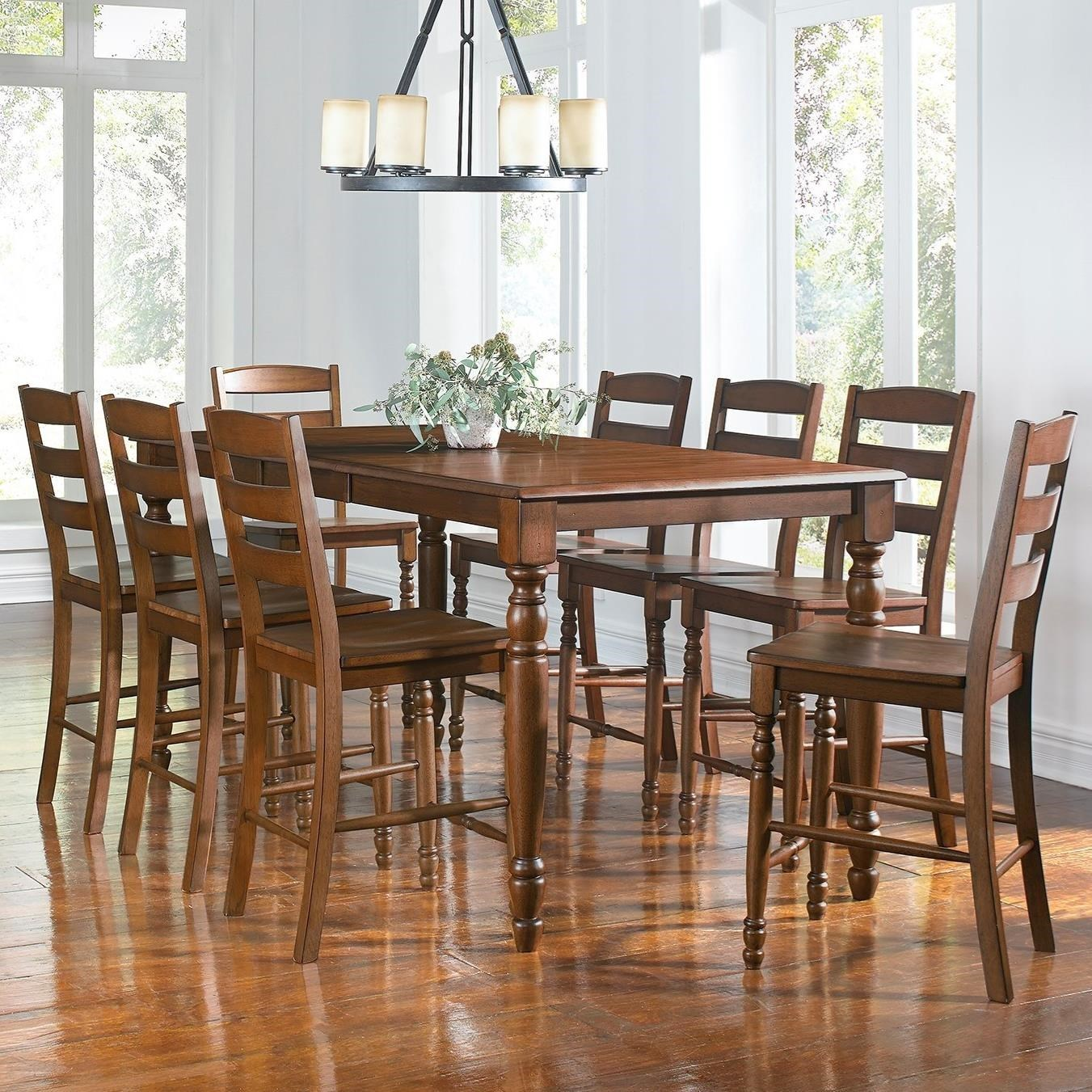 aamerica roanoke 9 piece counter height dining table
