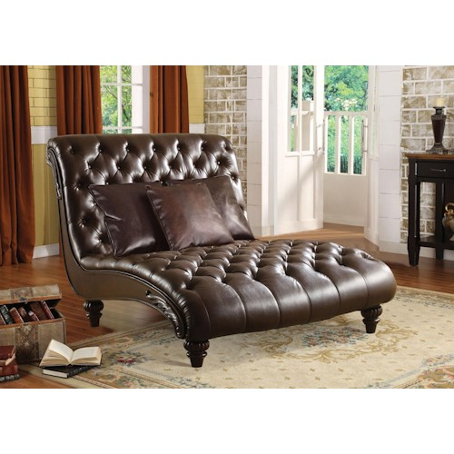 Acme Furniture Anondale 15035 Traditional Chaise Lounge