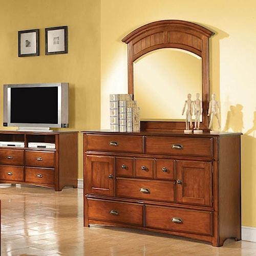 Acme Furniture Brandon Dresser And Mirror Combo Del Sol Furniture Dresser Mirror Phoenix
