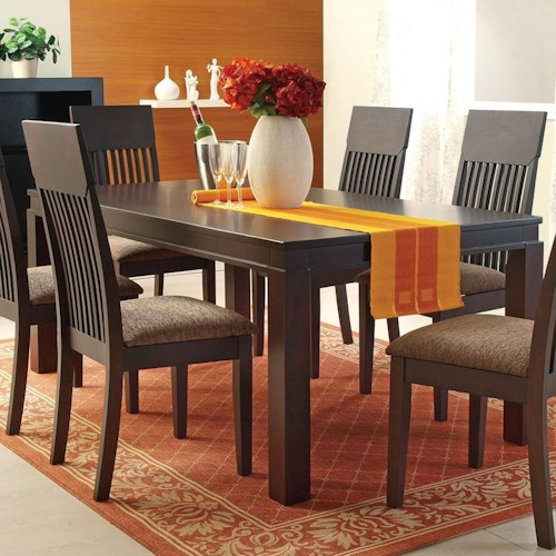 Acme furniture medora 00854 mission style casual dining for Mission style kitchen table