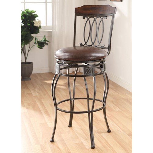 Acme Furniture Tavio 96049 Swivel Bar Chair Del Sol Furniture Bar Stools Phoenix Glendale