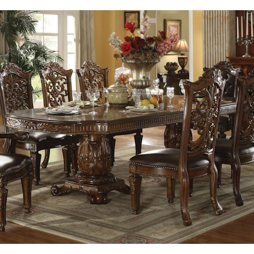 Acme Furniture Vendome 60000 Formal Dining Table Del Sol Furniture Dining