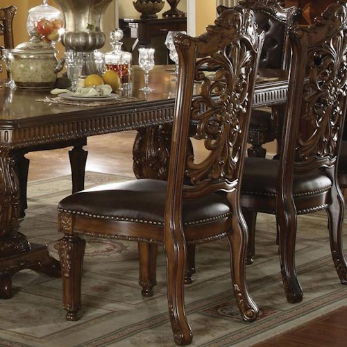 Vendome Traditional Formal Dining Room Cherry Finish: Acme Furniture Vendome 60003 Dining Side Chair