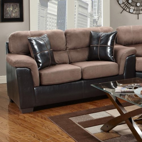 Affordable furniture 6200 fabric faux leather loveseat for Affordable furniture and appliances