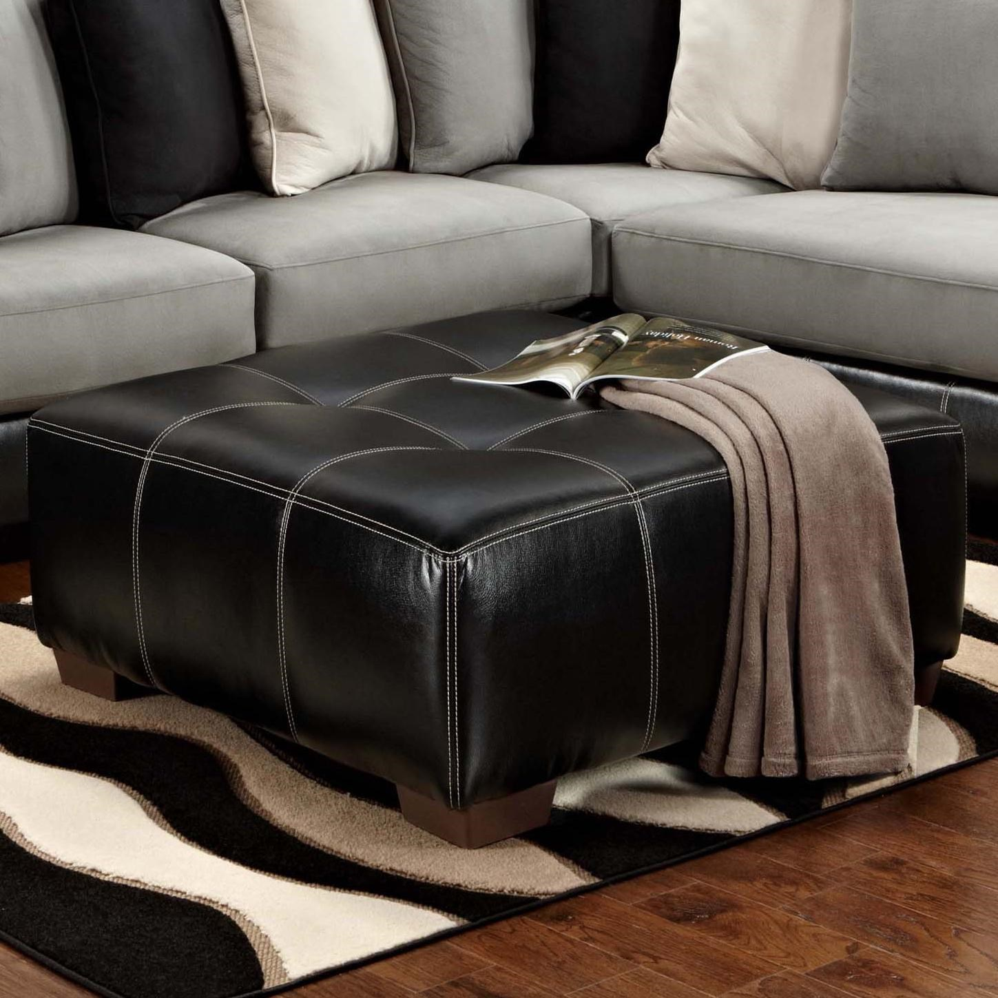 Affordable Furniture 6350 Party Upholstered Ottoman Ivan