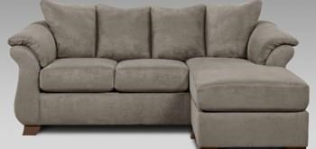 Affordable Furniture Grey Sofa Chaise Ivan Smith