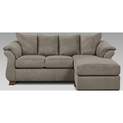 Affordable furniture grey sofa chaise ivan smith for Affordable furniture warehouse texarkana tx