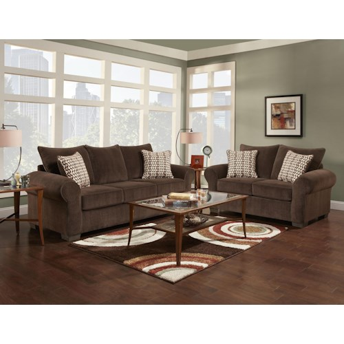 Affordable Furniture 7300 Stationary Living Room Group Royal Furniture Upholstery Group