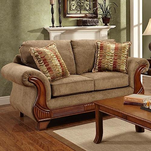 Affordable furniture 8400 traditional loveseat royal for Affordable furniture jackson ms