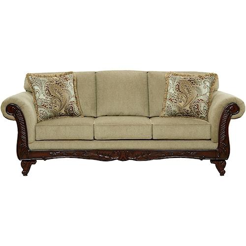 Affordable Furniture 8500 Traditional Sofa Royal Furniture Sofa Memphis Jackson Nashville