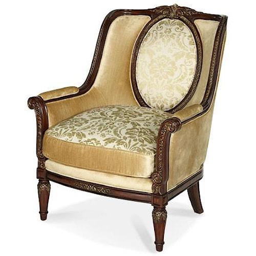 Michael Amini Imperial Court Chpgn Wood Trim Chair