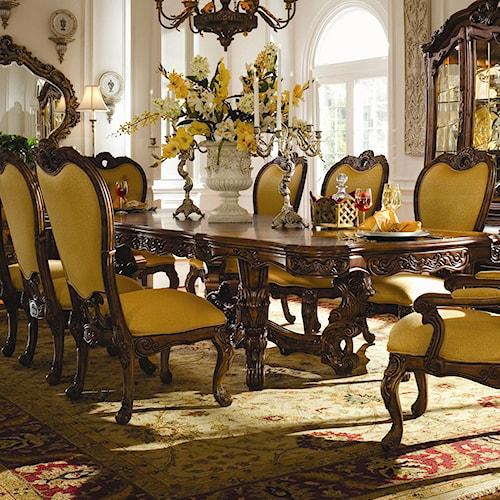 dining room furniture diningtables michael amini palais royale dining
