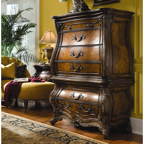 Michael Amini Palais Royale Six Drawer Gentleman 39 S Chest J J Furniture Drawer Chests