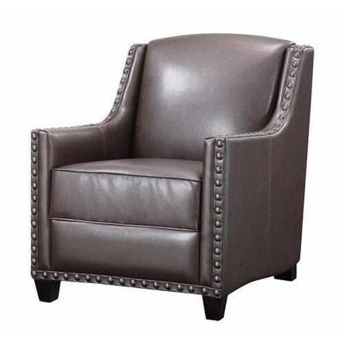 Aif Trading Group Thomas Mahogany Chair Ivan Smith Furniture Upholstered Chair