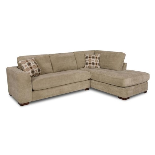 Albany 277 sectional sofa with right side chaise louis for Sectional sofa with right side chaise