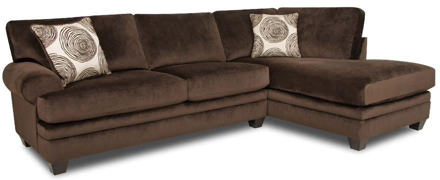 Albany 8642 Transitional Sectional Sofa with Chaise - Furniture and ApplianceMart - Sectional ...