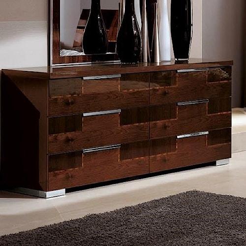 Alf Italia Pisa 6 Drawer Dresser Stoney Creek Furniture Dresser Toronto