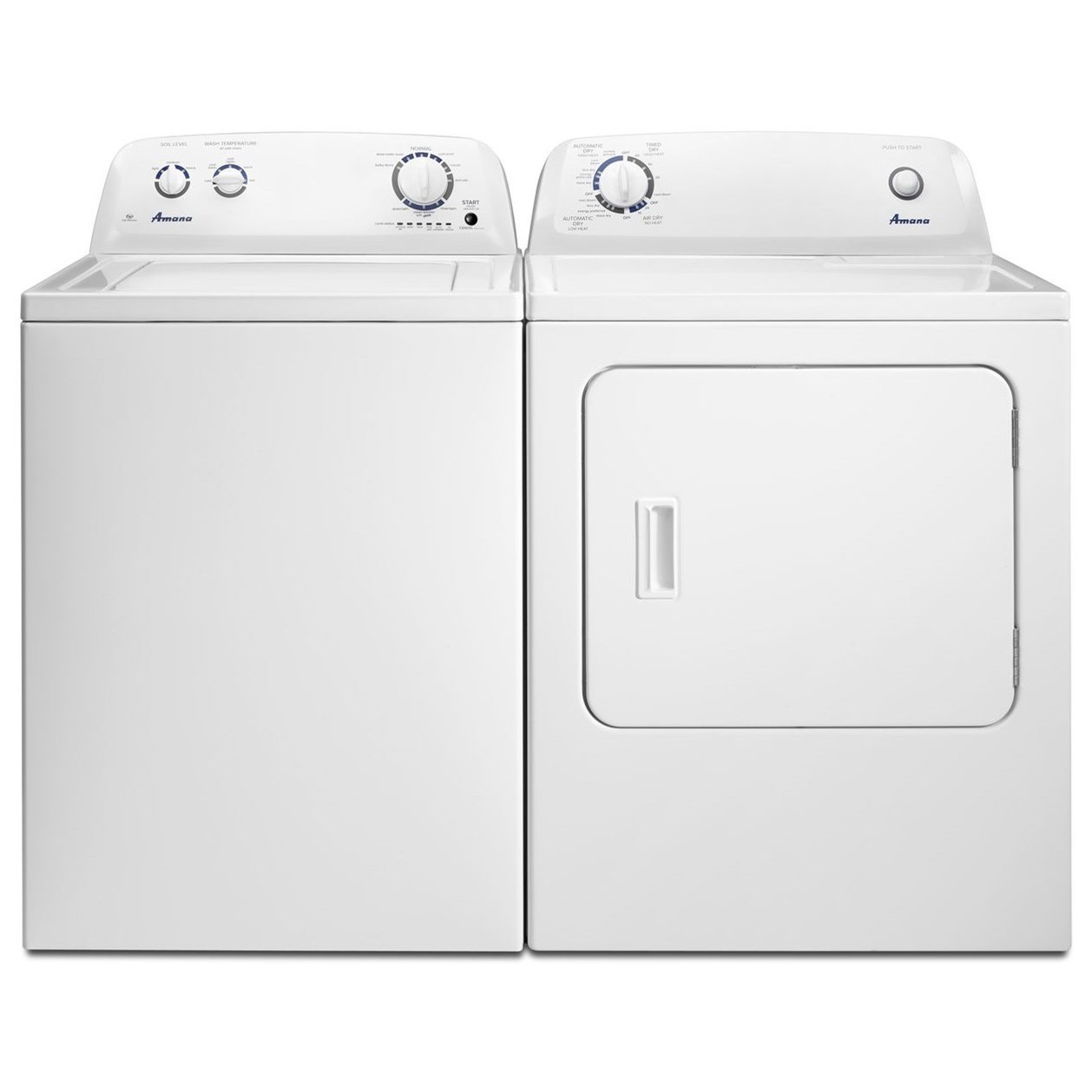 Amana 3.5 Cu. Ft. Top-Load Washer With Porcelain Tub and 6.5 Cu. Ft. Top-Load Dryer With ...