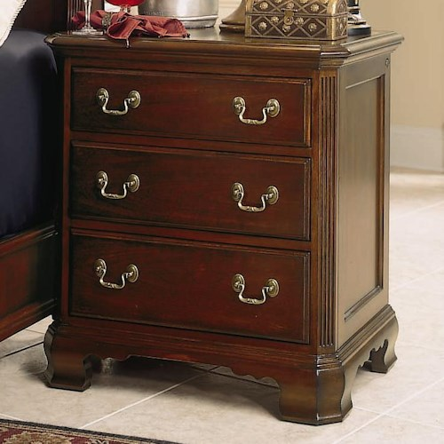 American drew cherry grove 45th 3 drawer night stand - American drew cherry bedroom set ...