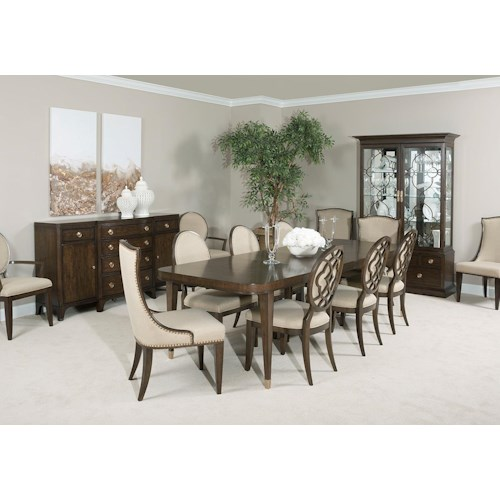 Formal Dining Room Table And Chairs By American Drew Ebth: American Drew Grantham Hall Formal Dining Room Group 4