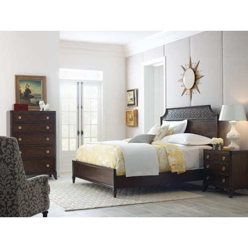 American Drew Grantham Hall King Bedroom Group 4 Stoney