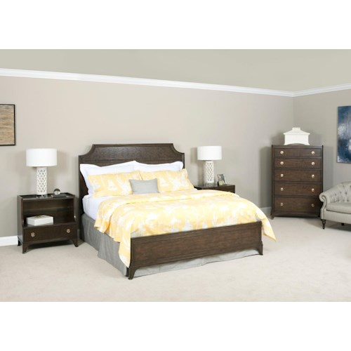 American Drew Grantham Hall King Bedroom Group 5 Stoney